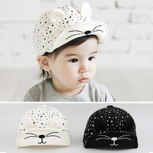 Cute Cat Ear Summer Infant Newborn Baby Hat Baseball Caps Baby Cap For Fotografia Cotton Summer Sun Hat For Boys Girls(China)