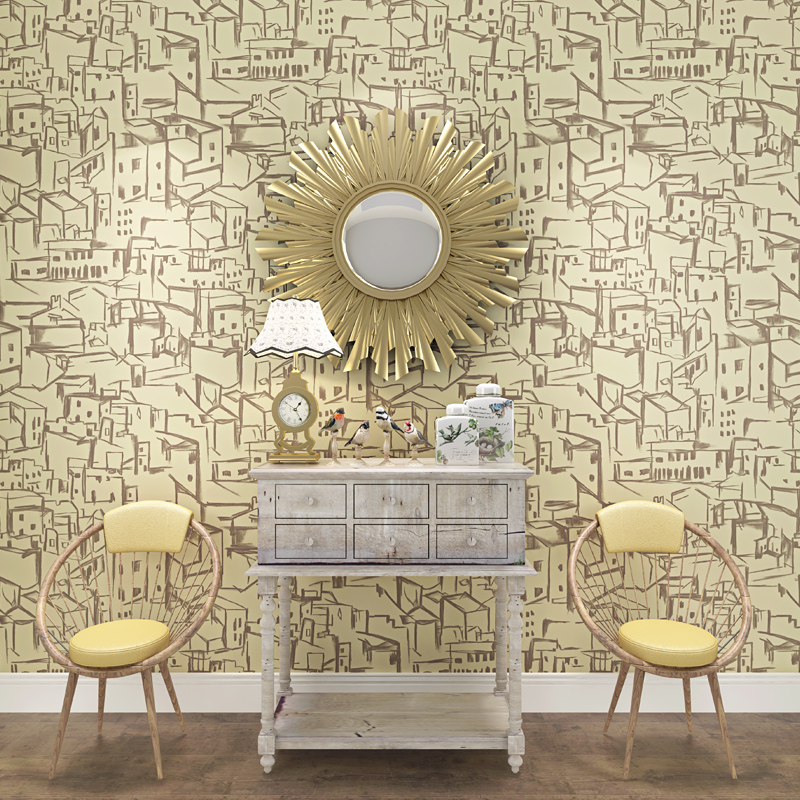 beibehang Mediterranean childrens room Abstract house non woven wallpaper living room wallpaper living room wallpaper<br>