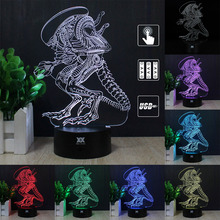 H Y Strange people 3D Night Light RGB Changeable Mood Lamp LED Light AC 5V USB Decorative Table Lamp Get a free remote control