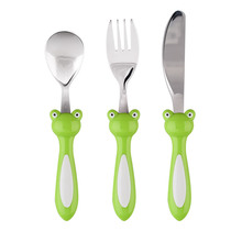 Kids Lovely Peter Cutlery Sets 304 Stainless Steel Mirror Polish Knife Spoon and Fork Set Children Portable Cheap Kitchen Tools
