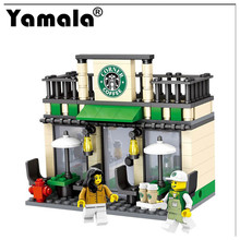 [Yamala] Series Mini Street Model Store Shop with Apple Store McDonald`s Building Block Toys Compatible with Legoingly Hsanhe(China)