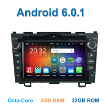 8 core Android 6.0.1 Car DVD Video Player for Honda CRV CR V 2006 2007 2008 2009 2010 2011 with Radio WiFi BT GPS  2G RAM