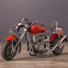 Tinplate Vintage Harley Motorcycle Collection Ironwork Showcase Craftwork Handmade Motor Bicycle Model