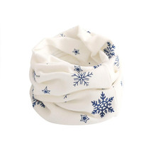 Best Quality Kid Scarf Snow flake Pattern Stitching O-ring Woolen Baby Scarf Neck Warmer fantastic designer scarf echarpe(China)
