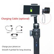 Zhi Yun Zhiyun Charging Cable Type C Micro-USB Lightning cable Zhiyun Smartphone Smooth Q 4 Vimble 2 Gimbal