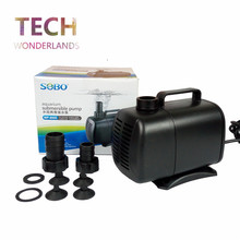 Aquarium super submersible pump fish tank water pump fish pond pool amphibious ultra silent pump SOBO WP-8000 6000L/H