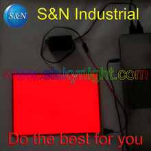 A5 size Red el sheet el panel el back light with 5V USB controller Steady on for advertising or decoration free shipping