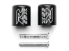 "Free Shipping Black Engraved Bar Ends Weights Sliders For Suzuki ""GSXR"" 600 750 1000 Hayabusa"