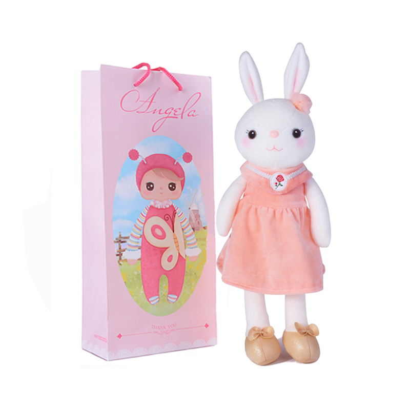 METOO Plush Toys Classical Tiramisu Metoo Bunny Rabbit with Gift Package Royal Dress Stuffed Doll for Kids Friend Birthday Gifts<br><br>Aliexpress