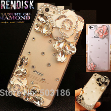 Beautiful Diamond Rhinestone Camellia Flower case Back cover For Samsung Galaxy J2 2015 J200 Crystal cases