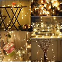 YUNLIGHTS 50 LED Globe Long String Light USB Operated 5M Led Ball Fairy Starry Light Garden Party Tree Christmas Warm White(China)
