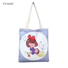 Kiki's Delivery Service Cosplay Handbag Spirited Away Canvas Shoulder Bag Female Crossbody Tote Handbag Bolsos Satchel(China)