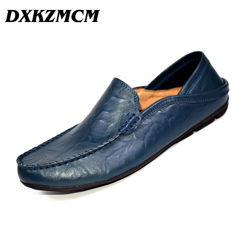 DXKZMCM  Fashion Men Casual Shoes  Men Flats Shoes Hand Made Breathable Slip-on Mocassins Men Loafers<br>