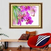 5D поделки алмазов картина кристалл красивый цветок фиолетовый Ирис 3d вышивки крестом декоративная Вышивка квадратный горный хрусталь крюч...(China)