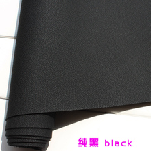 Black Faux Leather Fabric Imitation Leather Car Interior Leather Car Seats Sold BTY(China)
