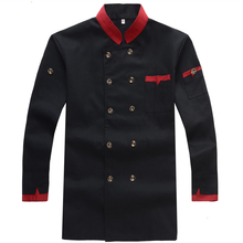 Hotel Chef Wear Long Sleeved  Hotel  Restaurant Kitchen Clothing  Men and Women Cooks Clothing Uniform Restaurants