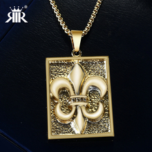RIR Punk Hiphop Men's Women Stainless Steel Fashion Gold Silver Dog Tag Army card Pendant Necklace with 60cm chain for Gifts(China)