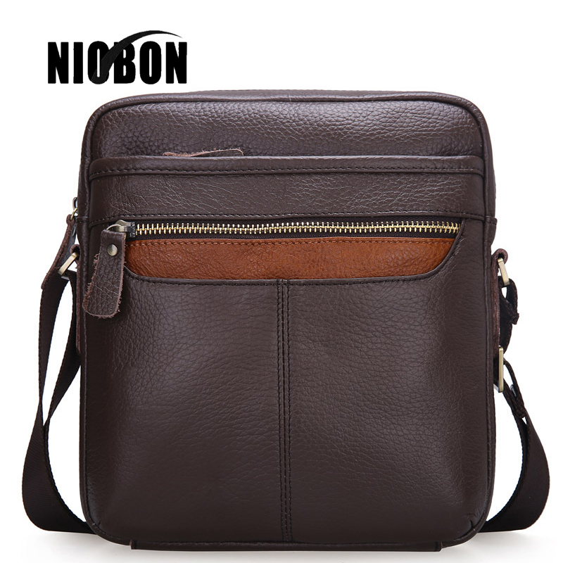 2017 New Genuine Leather Men Bag Fashion Leather Crossbody Bag Men Messenger Bags Casual Shoulder Designer Handbags Mans Bags<br>