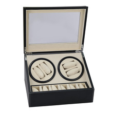Automatic Watch Winder Double-end Watch Winder Box With Imported Mute Motor Top Quality 4+6 Series Watch Storage Case(China)