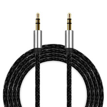 1/3M  3.5mm 2016 Auxiliary Cable Audio Cable Male To Male Flat Aux Cable For iphone High Quality #2515