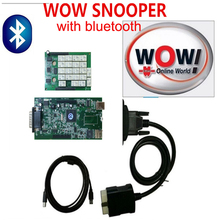Strong fuction !!  5.008R1  new Release  Software WoW snooper diagnostic tool  With Bluetooth CDP Cars/Trucks wow snooper