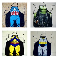 Free shipping,Avengers hulk,superman,batman, captain America Sexy / Funny Naked Muscle Man Apron Party Kitchen For halloween(China)