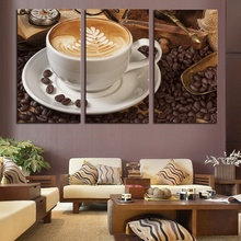 3 Panel canvas art Coffee Kitchen modern abstract painting wall pictures for living room decoration pictures(China)