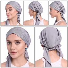 Fashion Muslim Women Lady Inner Hijab Cap Islamic Underscarf Headwear Hats Gift(China)