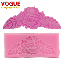 Nice Beautiful Flower Leaves Molds lace Non-Stick Fondant Sugar Jelly Ice Lace Silicone Moulds Cake Decorating Tools N1941