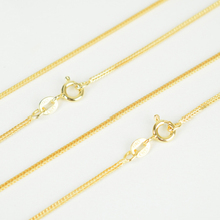 Italy Jewelry Pure 925 Sterling Silver Gold Color 1mm Slim Thin Fox Tail Chain Choker Necklace 40cm/45cm Long for Women Girls(China)