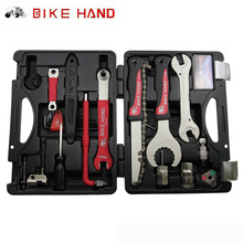 BIKEHAND 18 In 1 Multiful Bicycle Tools Kit Portable Bike Repair Tool Box Set Hex Key Wrench Remover Crank Puller Cycling Tools(China)