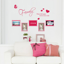 Family Butterfly Heart Photo Frame Wall Stickers Mural Wall Sticker Living Room Bedroom Home Decor Room Decals home decor