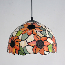 Wholesale new vintage novelty creative Tiffany pendant light lamp glass lampshade pendant lighting lamp for kid home living room