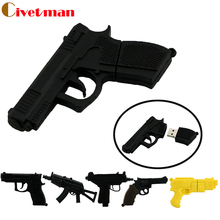 pen drive gun usb flash drive 4GB 8GB 16GB 32GB 64GB usb drive handgun thumb drive usb 2.0 cartoon ak47 pistol pendrives