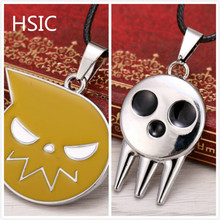 HSIC Anime Soul Eater Death the Kid Pendant Necklace Metal Necklace HSIC10466 Christmas Gifts(China)