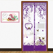 Sweet Lovers Design Anti Mosquito Net Curtain Magnetic Soft Door Protect From Insets Mesh Curtain(China)