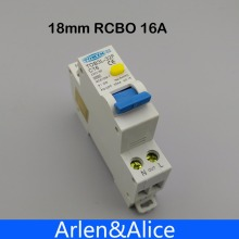 18MM RCBO 16A 1P+N 6KA Residual current differential automatic Circuit breaker with over current Leakage protection