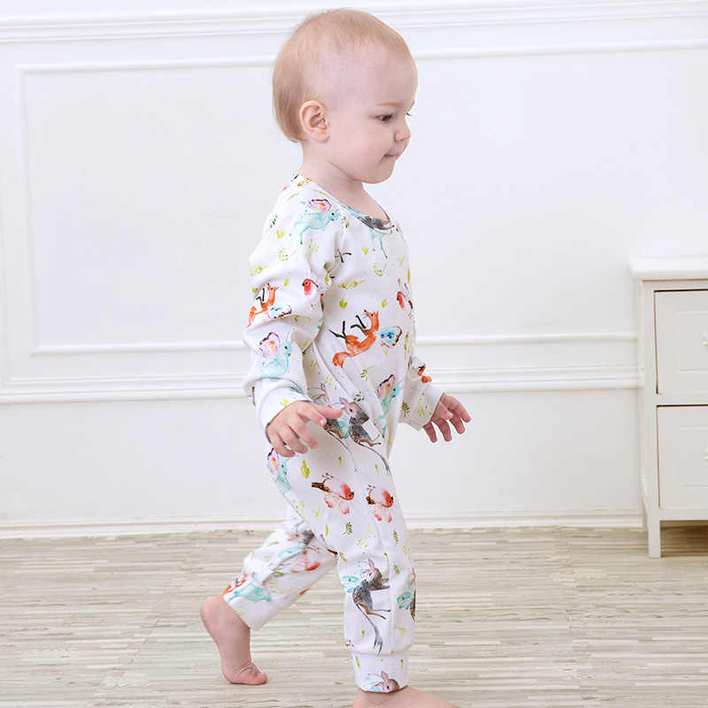 76e5110a8 Detail Feedback Questions about Floral Pig Baby Rompers Autumn ...