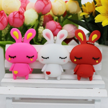 HOT RABBIT USB 2.0 Flash Drive Memory Stick Pen Drive 512GB 256GB Flash Card Stick Key 64GB 16GB 32GB 128GB Real Capacity Gift