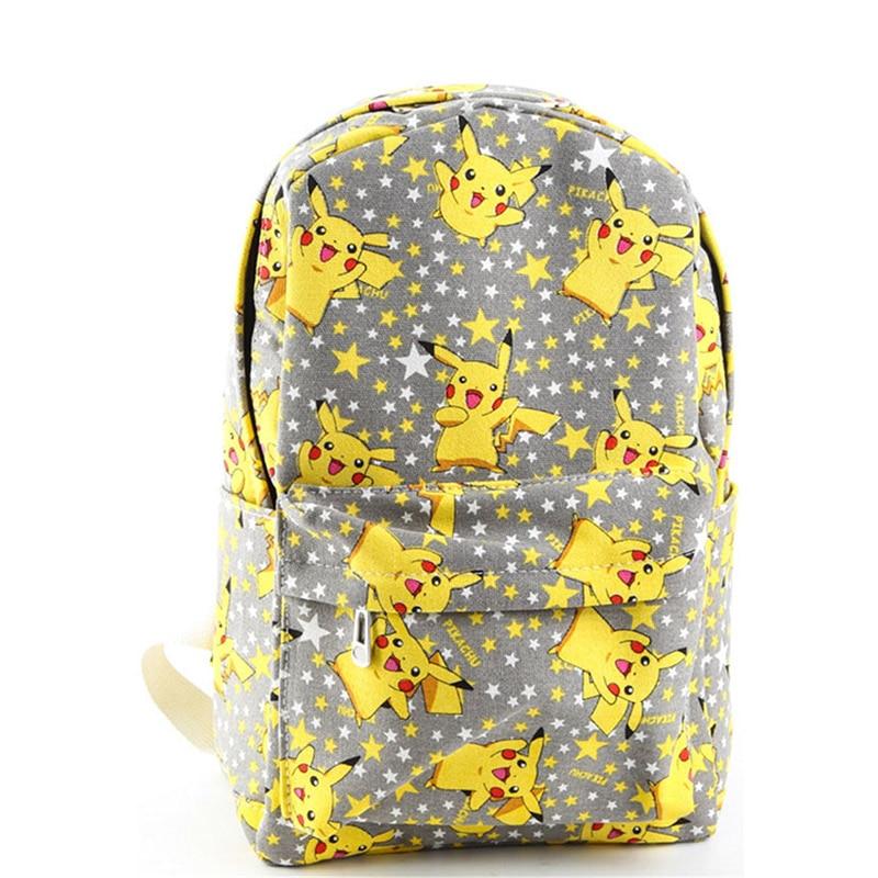 Cartoon Canvas Pokemon Backpack New Fashion Rucksack Backpack School Bag Cute Pikachu Printing BP0078<br>