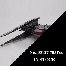 H&HXY 05127 705Pcs Star Plan Series The Tie Model Fighter Set lepin Building Blocks Bricks Educational Toys As Christmas Gifts(China)