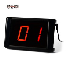 DAYTECH Wireless Server Paging Systems LCD Panel Restaurant Call Button Table Service Bell Receiving Distance 300M in open area()
