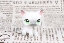 New Pet Collection Figure LPS #125 Siamese Short Hair Kitty GREY CAT Figure Kids Toys(China)