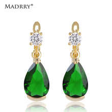 Madrry Aretes Blue Green Ear Piercing Earrings Parfum Women Luxury Brincos Bijoux Rhinestone Arete Vaz  Brand Jewelry Ugi uk