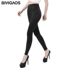 BIVIGAOS New Vertical Rayures Slim Skinny Stretch Leggings Plus La Taille  Pas Pilling Jeggings Mince Legging Pantalon Femmes Sex. 2ef9db5501c