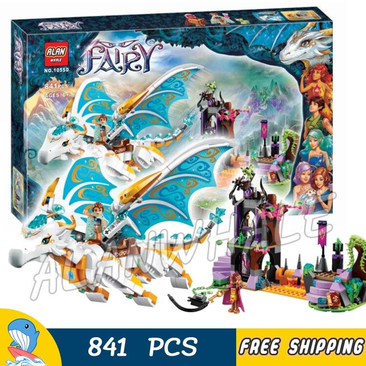 841pcs Elf Queen Dragons Rescue 10550 Model Building Blocks Children Fairy Princess Girl Toys Bricks Compatible with Lego Elves<br>