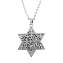 Dawapara Jewish Star of David Pendant 12 Tribes of Israel Ethnic Men Necklace Women Jewelry Collar(China)