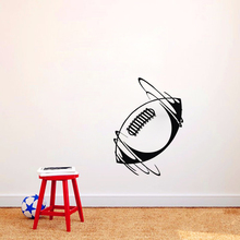 Spinning Rugby Ball Wall Stickers PVC Self Adhesive Home Decor Wall Decals for Kids Bedroom Wall Decoration