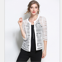 Buy 2017 Plus Size Wome Clothing Ladies White Lace Blouse Summer Cardigan Black Crochet Sexy Female blouses women tops blusas 883F for $10.25 in AliExpress store