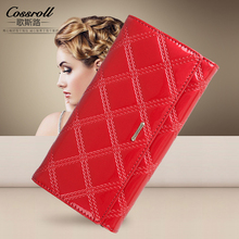 Genuine Leather Wallet Women Luxury Brand Long Womens Wallets and Purses Designer Clutch Wallets Female Coin Purse Red Fashion